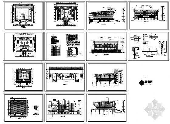 某二层体育馆建筑施工图-4