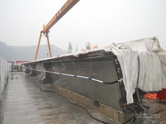 桥梁工程预制梁自动喷淋养生施工工法