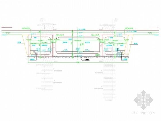 [湖南]城市道路工程下穿框架桥专项施工图设计