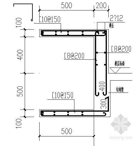 框架别墅外墙及阳台节点构造详图