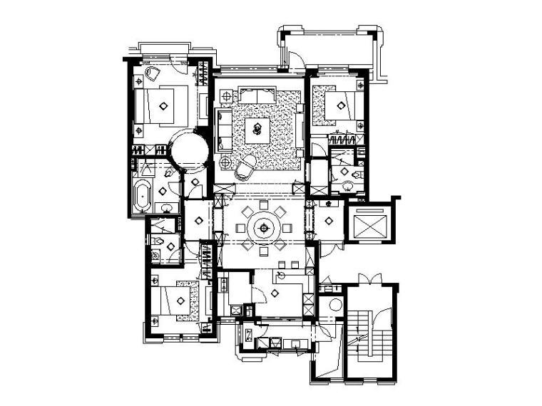 [大连]现代唯美简约室内设计施工图(含效果图)
