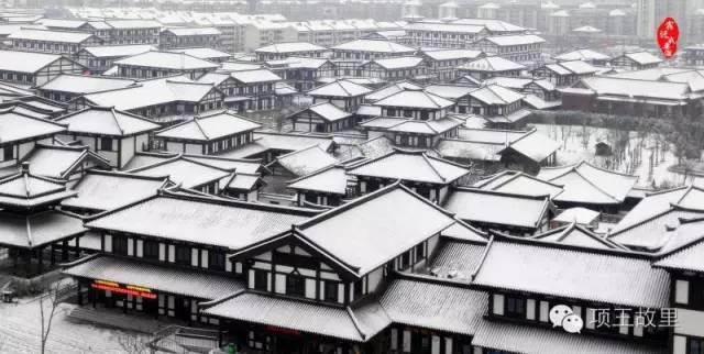 最美不过初雪,宿迁的项王故里就变成了西楚古城_4