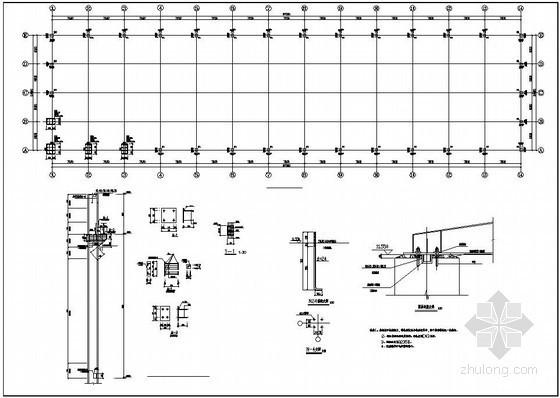 某厂房排架柱构造详图
