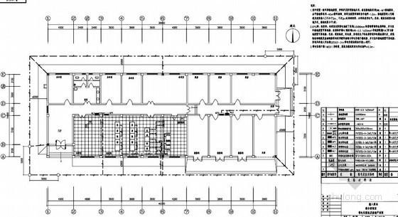 陕西某输入泵站综合控制室水电施工图