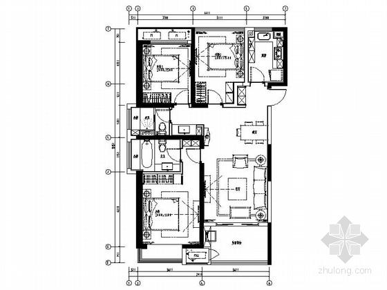 [原创]小户型温馨简洁现代家装施工图