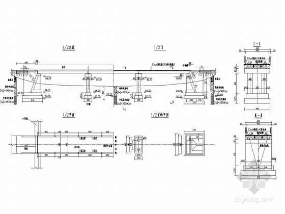 3×13普通钢筋混凝土空心板桥设计图(柱式墩 U型台配扩大基础)
