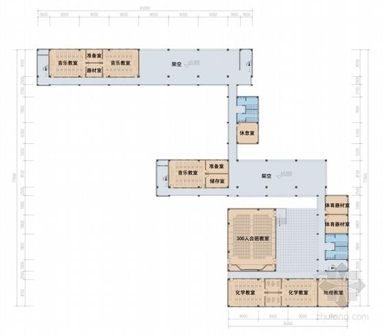 66班九年一贯制校园规划设计方案文本-66班九年一贯制校园规划设计平面图