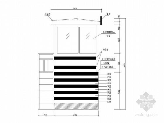 市政道路交通岗亭设计图