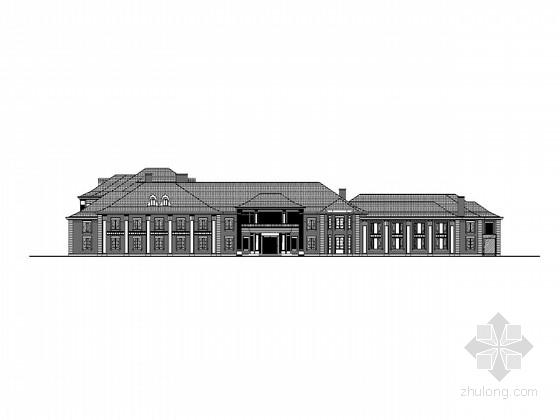 [上海]中式风格酒店建筑施工图(知名设计)