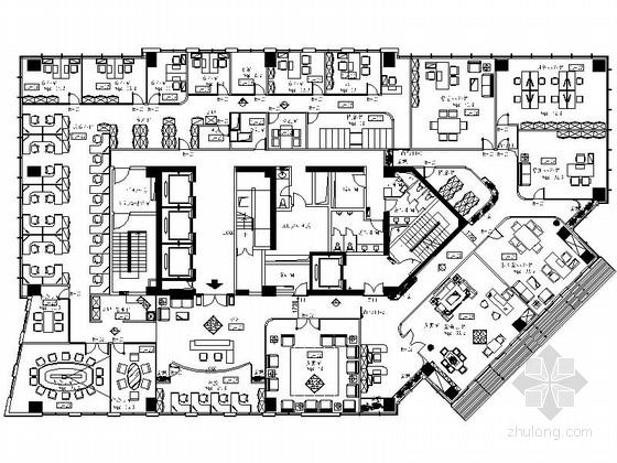 [上海]某集团豪华办公室室内设计装修CAD施工图