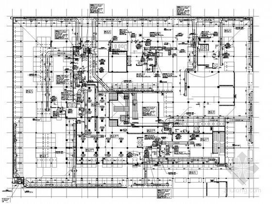 [江苏]小高层办公楼空调通风排烟系统设计施工图(风冷变制冷剂多联空调系统)