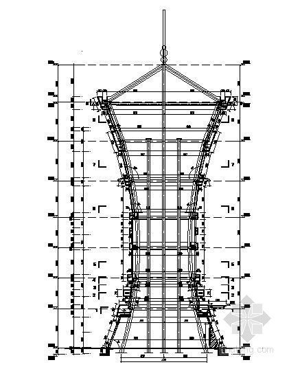 [安徽]某中学观光塔外立面装饰工程幕墙结构施工图