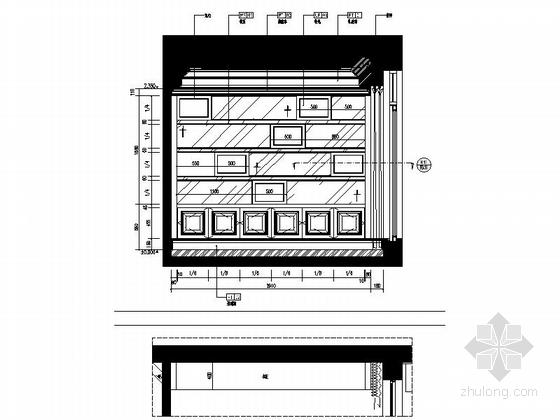 [浙江]某公馆时尚简欧三层别墅装修图(含效果)书房立面图