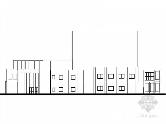 [北京]某学校三层食堂建筑方案图
