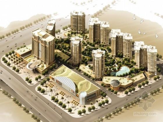 [广东]欧式风格高层住宅区规划及单体设计方案文本