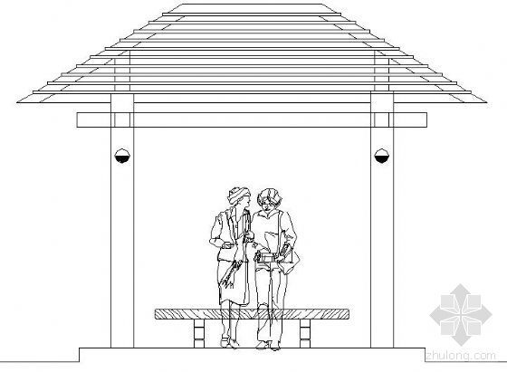 全木结构景亭施工图