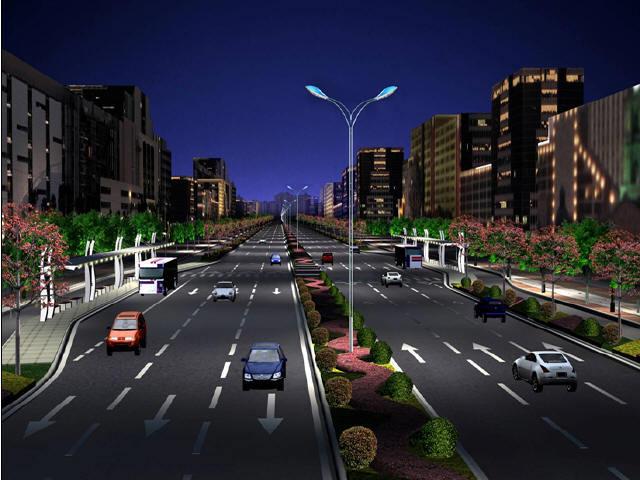 [湖南]2015年设计46m宽市政道路改造工程设计图232张CAD(含交通绿化排水)