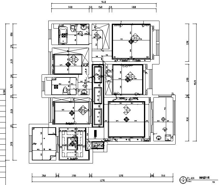 [江苏]美式风格别墅设计施工图(附效果图)