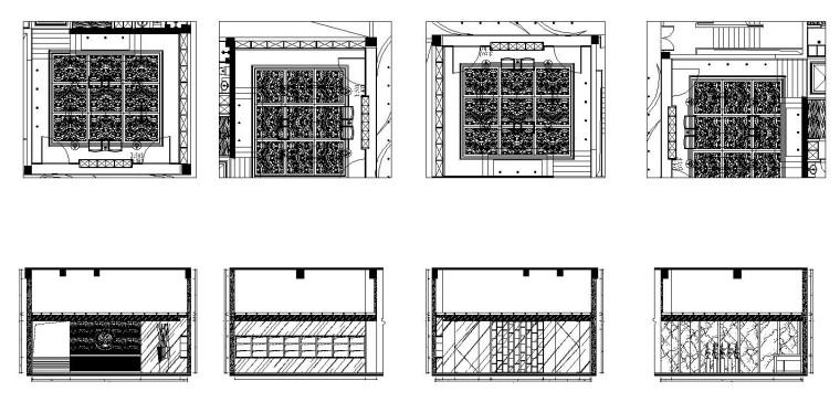 20110802铭濠酒店SPA一层立面布置图-Model