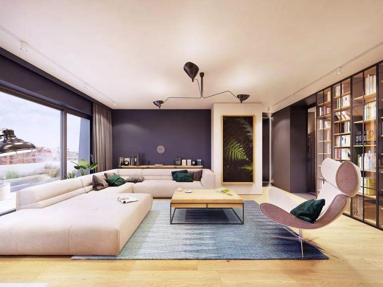 受够了极简主义 33图看这套装修设计丰富又时尚的公寓