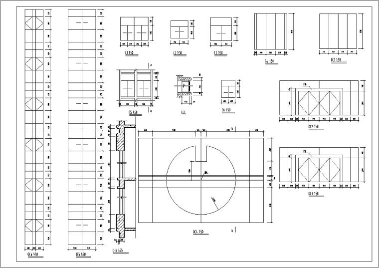 5套现代多层宾馆酒店建筑设计施工图CAD-现代多层宾馆酒店建筑节点结构图