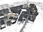 商业街广场,现代主义风格\广场新模型设计
