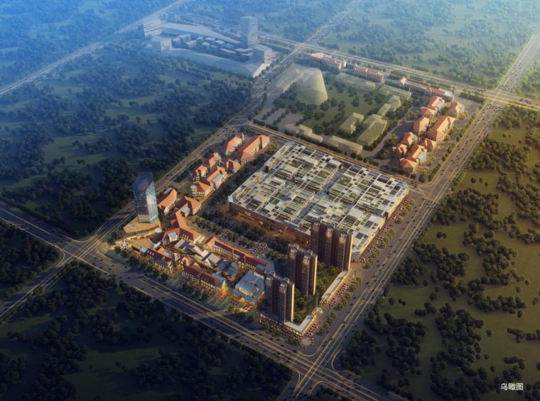[山东]高层多种风格商业综合体建筑设计方案文本