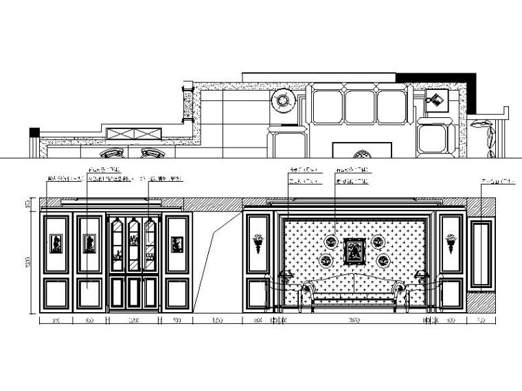 [成都]欧式精致优雅别墅室内设计施工图(含多张实景图)-[成都]欧式精致优雅别墅室内设计立面图