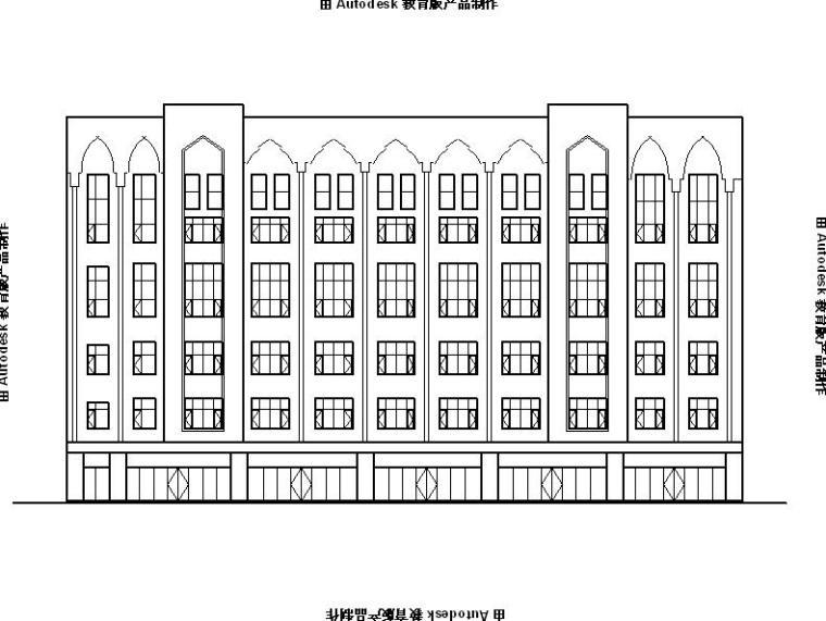 [宁夏]五层石材外墙商业综合楼建筑施工图