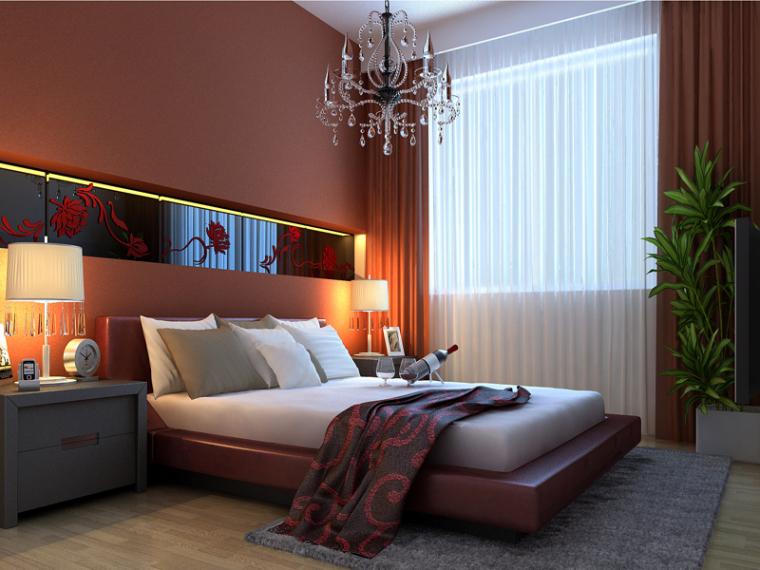 浪漫优雅卧室3D模型下载