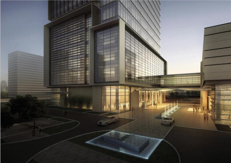 [广东]超高层玻璃幕墙高档办公酒店综合体方案文本(含cad)