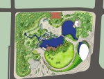 精品大型公园3D模型