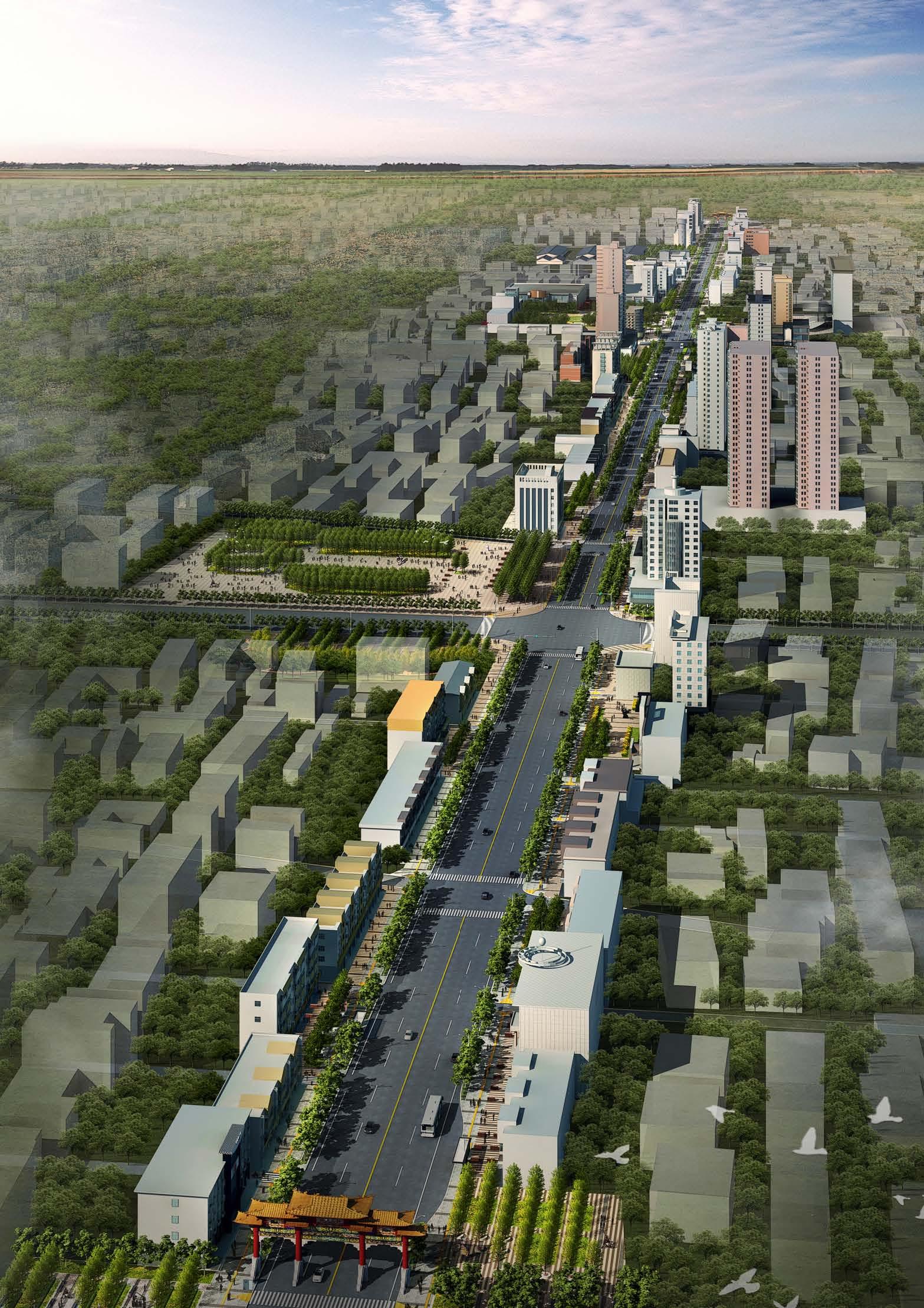[山西]人文孝义道路景观设计成功案例方案图片