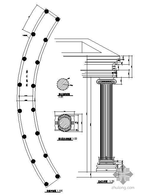欧式廊施工图