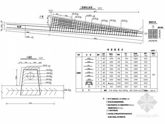 分离式立交桥锚块钢筋构造图