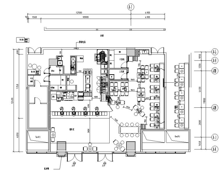 汉堡王福州东二环店施工图&外立面效果图&预算&结算&设计相关