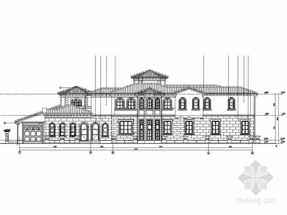 两层框架结构会所改建建筑结构图(含会所图纸疑问答疑)