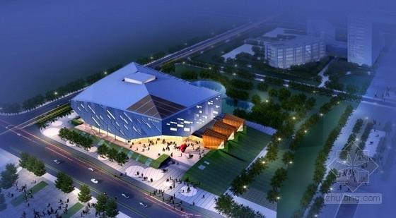 [浙江]高层乐谱式玻璃表皮方形多功能剧场建筑设计方案文本(含CAD)