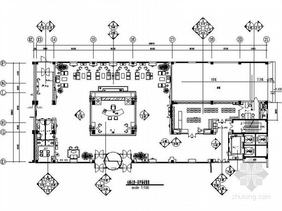 [北京]著名酒店品牌现代时尚商务酒店公共区域装修施工图(含效果)