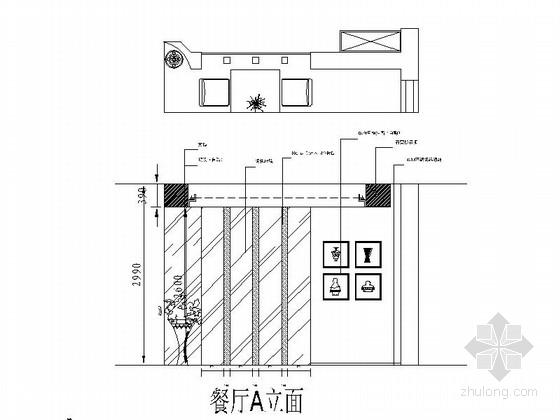 [潮州]时尚现代风格三居室装修施工图(含效果图) 立面图