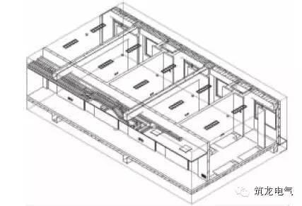 图10 学生公寓三维电气设计模型局部(房间和走道).jpg