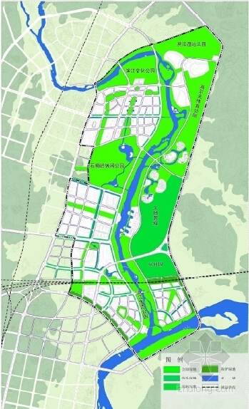 现代风格城市核心片区规划设计方案分析图