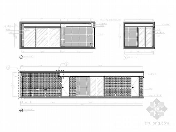[浙江]长条形户型三居室样板房设计施工图立面图