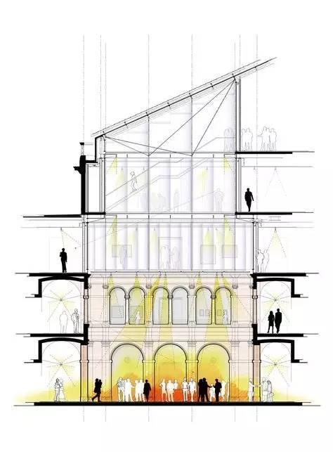 那些霸气的建筑剖面图_21