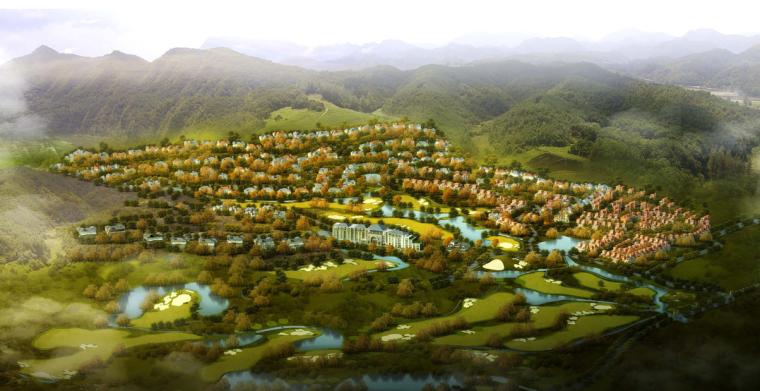 宁波牟山湖开元温泉度假村概念总体规划设计