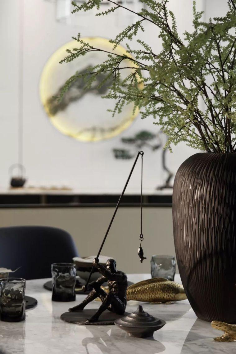 质朴材质也能构建空间气质,顶级别墅样板间设计_8