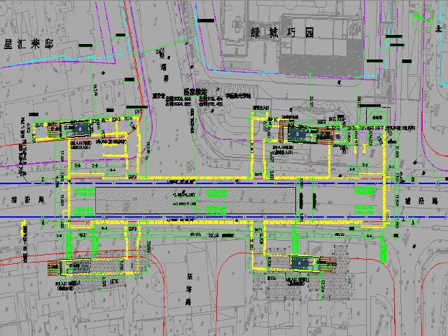 [浙江]砂质粉土区明挖法地铁地下双层岛式车站设计图281张CAD