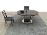 现代实木餐桌椅子3D模型下载