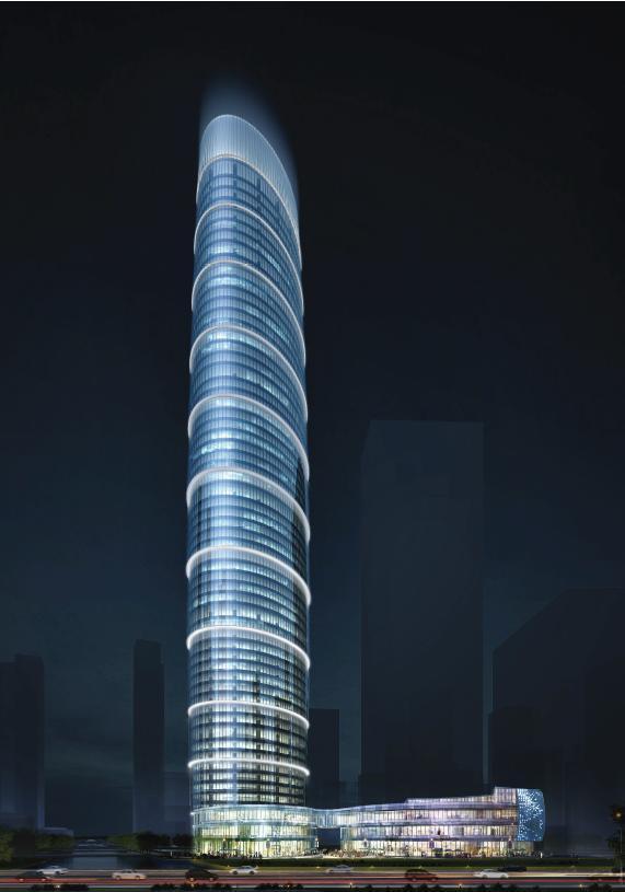 [广州]超高层竹林塔式办公楼建筑设计方案文本
