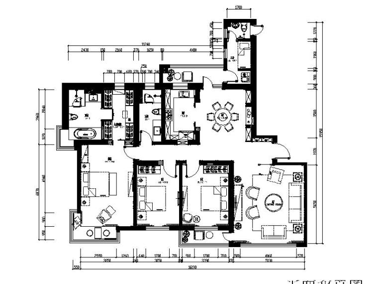 [大连]超详细的三居室精装修设计施工图